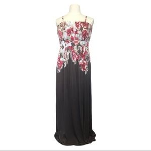 Soma Pink & Taupe Floral Maxi Dress Size XL